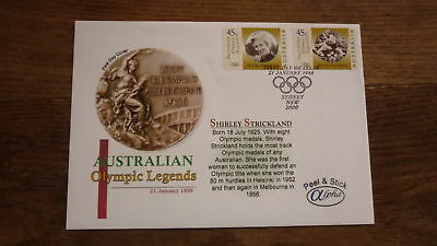 Australian Stamp Issue Alpha Fdc, 1998 Olympic Legends, Shirley Strickland