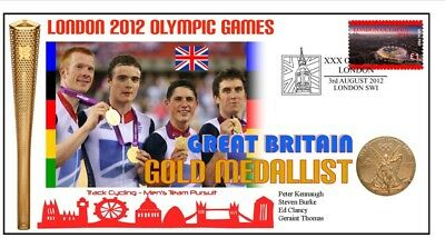 British 2012 Olympic Mens Cycling Team Gold Medal Cover