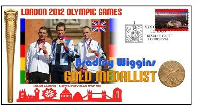 Bradley Wiggins 2012 Olympic Cycling Gold Medal Cover 2