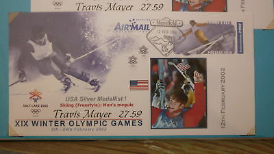 2002 Winter Olympic Games Medal Win Cover, Usa Travis Mayer Mens Moguls