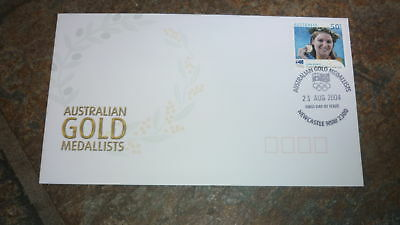 2004 Australian Olympic Gold Medal Stamp Fdc, Anna Meares Cycling Newcastle Pm