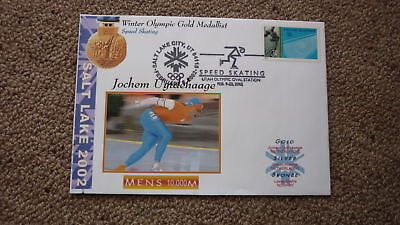 2002 Winter Olympic Gold Medal Win Cover, Uytdehaage Netherlands Speed Skating 1