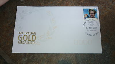 2004 Australian Olympic Gold Medal Stamp Fdc, Ryan Bayley Cycling Canberra Pm