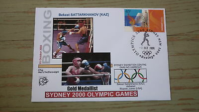 2000 Olympic Games Gold Medal Win Cover, Khazakstan Boxing Gold, Featherweight