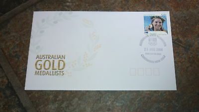 2004 Australian Olympic Gold Medal Stamp Fdc, Anna Meares Cycling Chatswood Pm