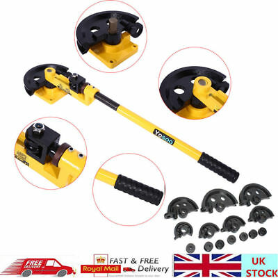 UK Heavy Duty Manual Carbon Steel Handheld Pipe Bender Bending Set 10-25mm Tube