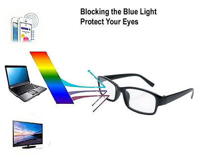 2 X Slim Unisex Reading Glasses Designer Vision Anti Glare Blue Light Computer