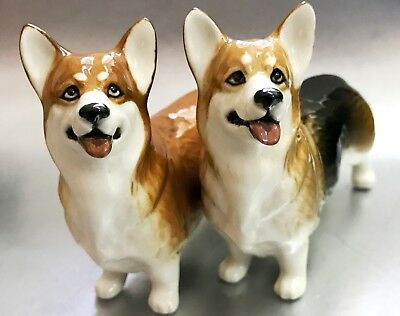 Welsh Corgi porcelain figurines Dogs miniature from Russia high quality