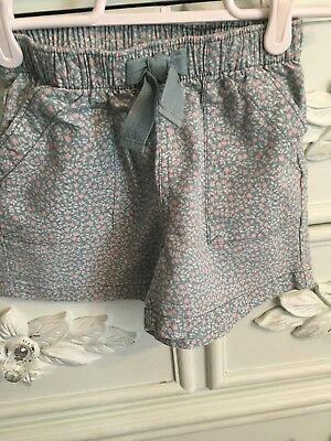 Girls Tea Collection Size 6 Blue Floral Shorts