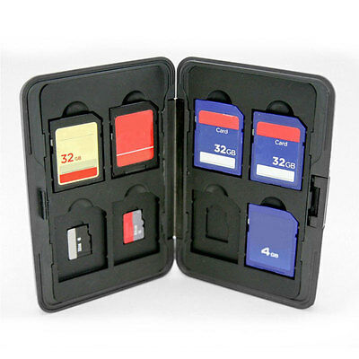 Silver 16in1 Micro SD SDXC SDHC Storage Holder Memory Card Case Alloy ·Protector