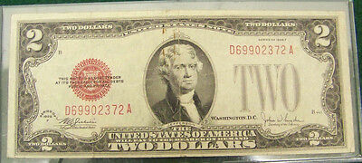 1928 F $2 Red Seal Note # D 69902372 A - VF with Details