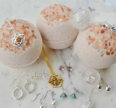 Bath Bomb - Surprise jewellery Inside - Handmade & Gift Wrapped - By Claire