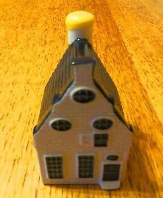 Klm Blue Delft Bols Miniature House Number 39 In Hindeloopen With Original Seal