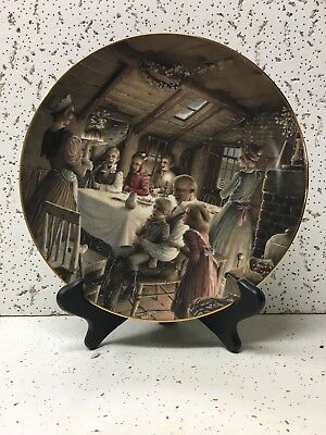 Dept 56 Plate A Christmas Carol The Cratchit's Christmas Pudding 1991 Gold Rim