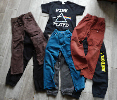 NEXT boys clothes bundle trousers joggers jeans Nike Pink floyd t-shirt 5-6 year