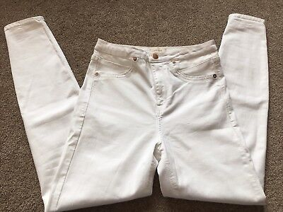 New Ladies River Island Jeans Size 12 White Skinny Jeans 12/R