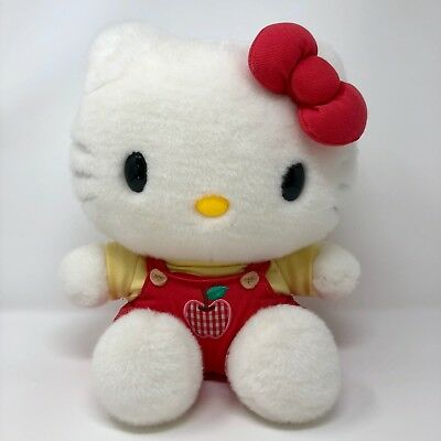 """14"""" Hello Kitty Red and Yellow Apple Overalls"""
