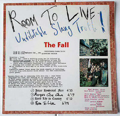 """THE FALL - """"Room to Live""""; LP GER 1983, Line Records 6.25 439"""