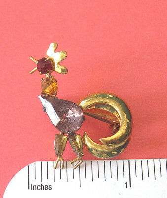 Vintage  ROOSTER scatter pin - lapel pin , brooch GIFT BOXED