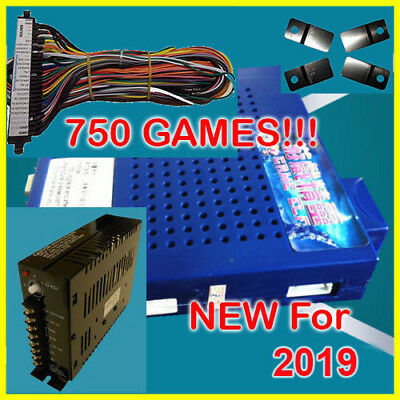 NEW 750 in 1 Game Elf JAMMA Arcade Board VGA Horizontal w WIRE & PWR US SELLER