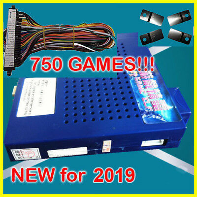 NEW 750 in 1 Game Elf JAMMA Arcade Board VGA Horizontal w WIRE HARNESS US SELLER