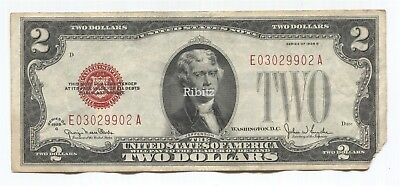 US Legal Tender $2 Dollars Note - 1928-G - Red Seal - E03029902A
