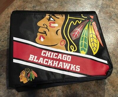 Chicago Blackhawks NHL Cooler 6 Pack Ice Lunch Box Bag Forever Collectibles