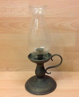 Vintage Candle Lamp & Glass Shade.
