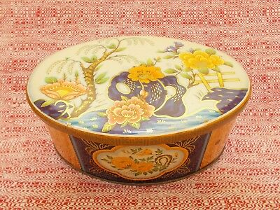 Vintage Daher Tin Floral Decorated Box Container w/ Lid Made in England