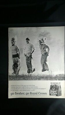 "1964 RC Royal Crown Cola Ad  Picnic Sack Race""Go fresher, go Royal Crown"""