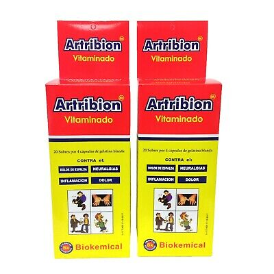 2 ARTRIBION VITAMINADO 2 DISPLAY 20 Packs x 4 Pills each one *** ORIGINAL***