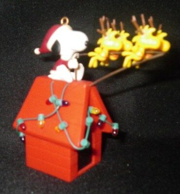 2005 Peanuts Christmas Ornament, Snoopy and Flying Woodstock