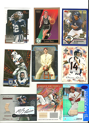 sheets of cards with jersyes rookies auto  numberad etc 15.00 per sheet