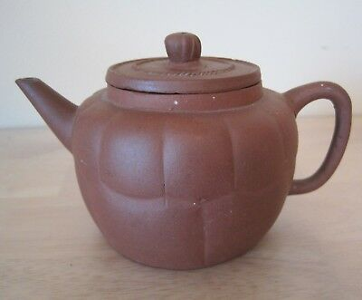 Small Antique Chinese Yixing Red Clay Teapot Unmarked Civil War Era