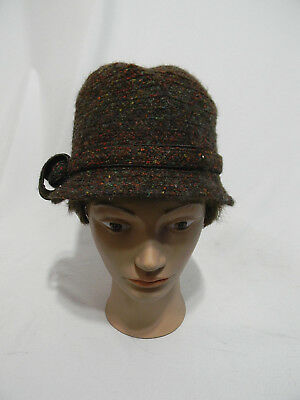 327ab08badb Betmar New York Cloche Hat Women s Brown Multi-color NWT Wool Blend One  Size Sz
