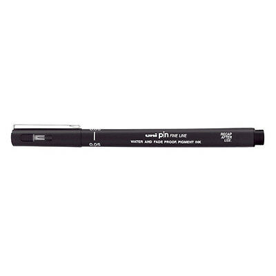 Uni - (Single) PIN-200 Fineline Marker, 0.05mm, Black