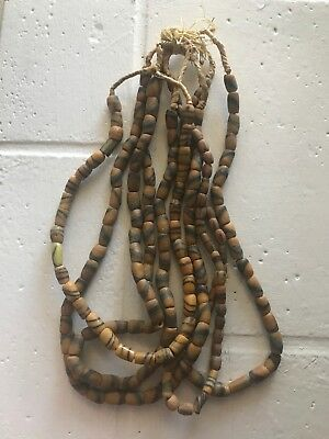 Lot Of 6 Native American Glass Clay Trade Bead Necklaces Vintage