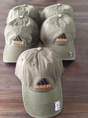 New 83 Mens ADIDAS Baseball Hat Weekend Warrior/Ultimate Olive Green Adjustable