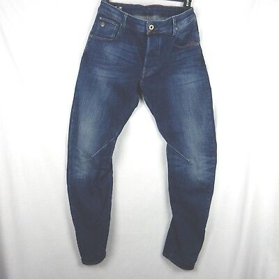 6f2e4311569 Men's G-Star Raw Arc 3D Slim Jeans Dark Aged Blue Button Fly Size 34x32