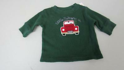 Gymboree Snow Chillin' Green Thermal Shirt w/Truck Little Delivery 3-6 NEW TL30