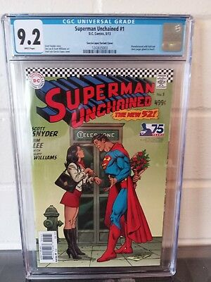 Superman Unchained #1 Cgc 9.2 Variant