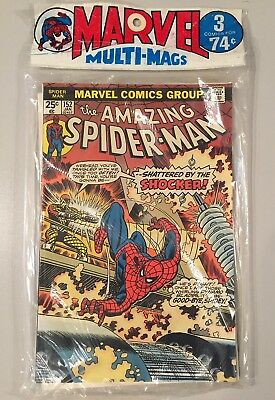MARVEL MULTI-MAG UNOPENED POLY BAG 1970's 3 NM COMICS THOR SPIDER-MAN TWO-IN-ONE