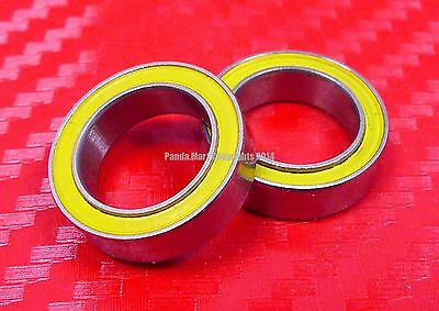 [QTY 1] S6902-2RS (15x28x7 mm) CERAMIC 440c S.Steel Ball Bearing 6902RS ABEC-5