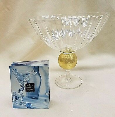 Union Street Glass Manhattan Pedestal Bowl 8.5 X 9.25 *new*