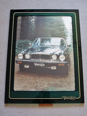 Daimler Jaguar Sovereign Series Iii Double Six Framed Dealer Photo Print Poster