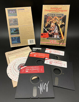 Steve Wozniak SIGNED Dungeons & Dragons Apple 5.25 Disk Game PSA/DNA AUTOGRAPHED