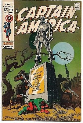 CAPTAIN AMERICA #113 MARVEL May 1969 HIGH GRADE VFJim Steranko Bucky HIGH GRADE