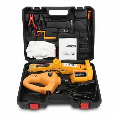 Electric Car Jack 12V Hydraulic Floor Tool Set Tire Replacement Lifting Kit