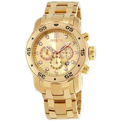 Invicta Pro Diver Chronograph Champagne Dial Gold-plated Men's Watch 80071