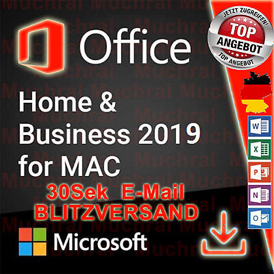 MS Microsoft Office 2019 Home and Business für MAC Word Excel PowerPoint OneNote